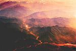 火山岩浆风景