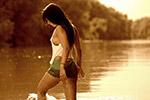 水中感性美女