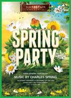春季欢乐派对海报