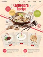 美食网站模板