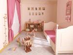 温馨儿童房模型