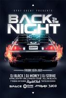 黑色之夜酒吧海报
