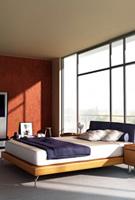 大窗户卧室模型