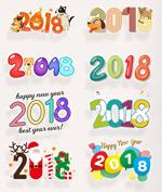 卡通2018艺术字