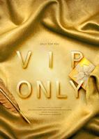 金色VIP招募海报