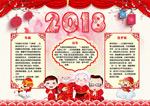 狗年春节习俗小报