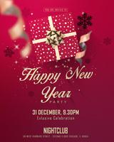 新年快乐派对海报