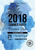 2018夏季派对海报