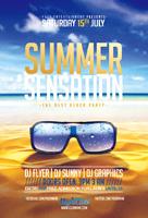 酒吧夏季派对海报