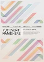 彩条设计促销海报