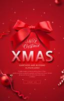 红色圣诞节日海报