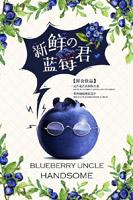 新鲜蓝莓水果海报