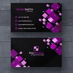 紫色几何图案名片