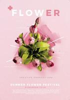 鲜花店花卉海报