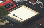 画框桌面样机