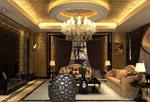 欧式风格客厅模型