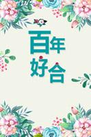 百年好合结婚海报