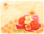 水彩花束插画
