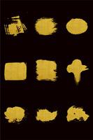 金色墨痕墨迹