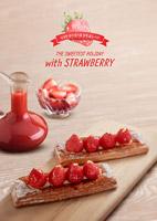 草莓果浆点心海报