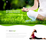 健身瑜伽网页模板