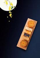 月饼美食中秋背景
