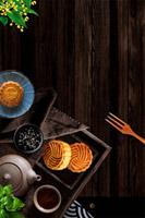茶道月饼中秋背景