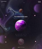 太空星球科技背景