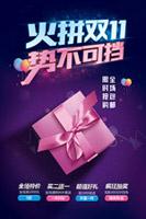 火拼双11购物海报