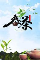自然清新春茶海报