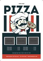 卡通披萨店宣传单