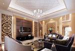欧式家居客厅模型
