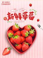 农家草莓海报