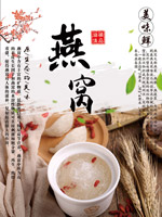 美食燕窝宣传海报