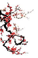 中国风国画手绘梅花