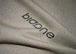布纹上的标志样机