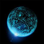 蓝色科技地球