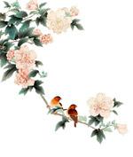 中国风花鸟装饰