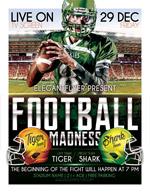 橄榄球比赛海报