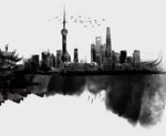 水墨上海元素