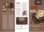 咖啡菜单三折页