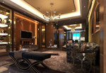 欧式别墅客厅模型