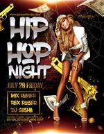 嘻哈夜酒吧海报