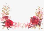 手绘红色玫瑰