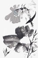 水墨画莲藕