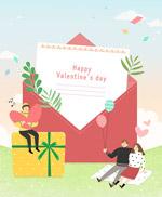 情人节浪漫人物海报