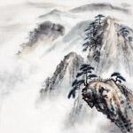 水墨山峰图片