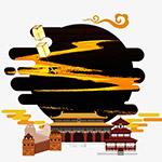 国庆海报插画