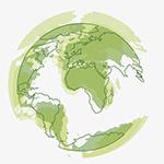 绿色环保地球球形