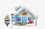 冬天雪房子
